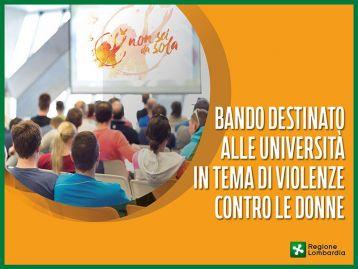 Universita' - percorsi formativi prevenzione e contrasto violenza contro le donne annualità 2021/2022